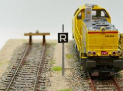 Panneau « R » fin de vitesse limitée