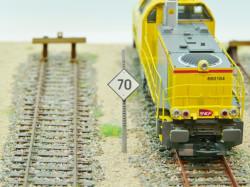 Panneau TIV à distance « 70 km / h »