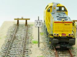 Panneau TIV à distance 70 km / heure