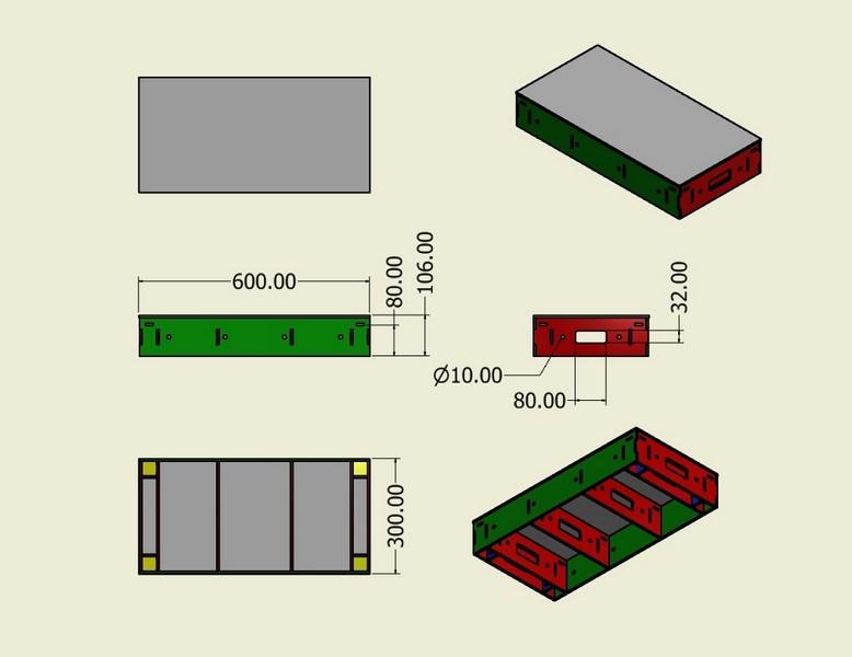 Module 600 x 300 bois mod lisme - Module prefabrique bois ...