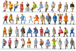 48 Personnages assis - set  n°2