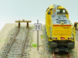 Panneau TIV à distance 20 km / heure