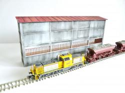 Demi-bâtiment industriel