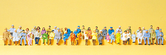 48 Personnages assis - set  n°1