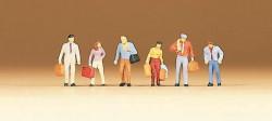 Lot de 6 voyageurs avec bagages