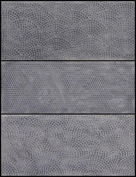 Planches de pavés gravés